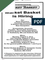 Market Basket job fair ad