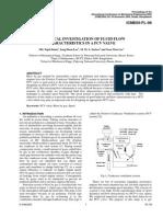 Numerical simulation of PCV valve