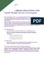 Virtual Installtion of NS2