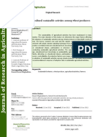 Factors Affecting Agricultural Sustainable Activities Among Wheat Producers