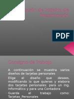 Creación de tarjetas de presentación