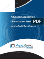 Advanced Application Penetration Testing 8-Day