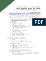 Pokok-Pokok Perubahan UU PPh Nomor 36 Tahun 2008