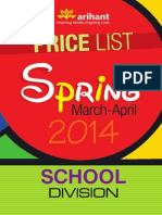Arihant Price List (School Division)