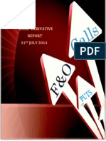 Derivative Report 31 July 2014