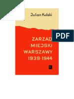 Kulski, Julian - Zarząd Miejski Warszawy 1939-1944 – 1964 (Zorg)
