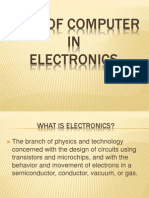 Role of Computer in Electronics