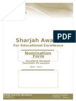 Sharjah Award Form