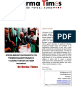 Report by Mandalay Violence on 1st July 2014
