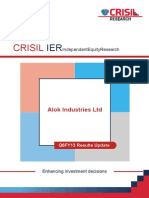CRISIL Research Ier Report Alok Industries 2012 Q6FY13