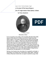 Inspirational Role of Congressman John Quincy Adams