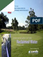 Public Forum Series on Water Reuse