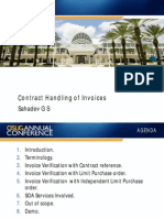Contract Handling of Invoices