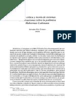 Más Torres, S. - Teoría Crítica y Teoría de Sistemas. Observaciones Sobre La Polémica Habermas - Luhmann