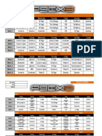 Workout Calendars