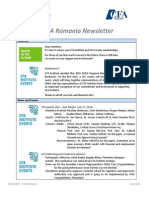 CFA Romania Newsletter - July 2014