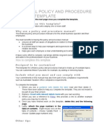 Financial Policy and Procedure Manual Template