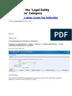 Legal Entity Configurator Category