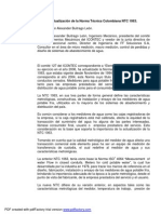 Actualizacion de La Norma Tecnica Colombiana NTC 1063