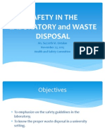 Safety in the Laboratory and Waste Disposal