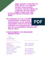 Arquetipos y Flores de Bach