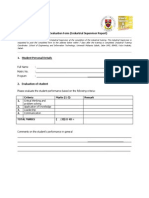 Industrail Training Form