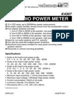 Vatimetro Manual k4307