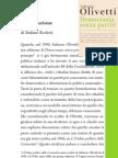 """Stefano Rodotà da """"Democrazia senza partiti"""" di Olivetti"""