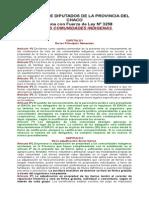 Ley Nº 3258(Comunidades Aborienes-IDACH)