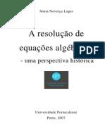 A Resolução de Equações Algebricas
