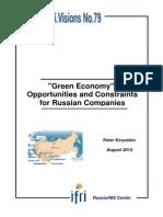 """Peter Kiryushin, Green Economy"""""""