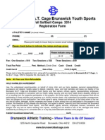 BAT CAGE BYS Slow Pitch Softball Camps Fall 2014 Registration Form - Copy