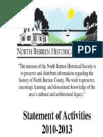 NBHS Statement of Activities 2010-13
