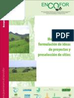 Manual formulacion ideas de proyectos y preseleccion de sitios