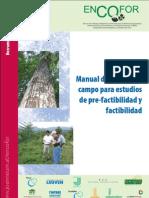 Manual trabajo de campo estudios pre-factibilidad y factibilidad