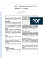 Effects of Foreign Direct Investment FDI in the Indian Economy