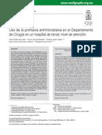 Uso de La Profilaxis Antimicrobiana en El Dpto de Cirugia