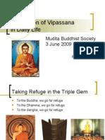 Application of Vipassana in Daily Life