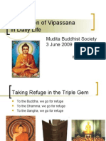Application of Vipassana in Daily Life