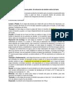 Diseño de Proceso de Extraccion de Almidon de Ñame