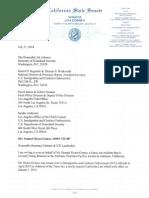 CA Senator Lou Correa Letter of Support for Samuel Sixtos-Gomez