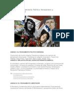 Contenido Pensamiento Politico Venezolano y Latinoamericano