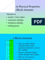F7 S-block Physical Properties