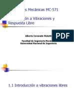 MC 571 Capitulo 1 Introduccion a Vibraciones Respuesta Libre