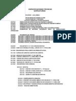 ESPECIFICACIONES TÉCNICAS (FALTAN)