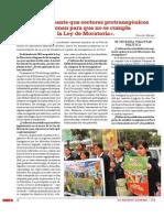 «Es preocupante que sectores protransgénicos presionen para que no se cumpla la Ley de Moratoria».