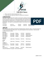 Class Descriptions 2014