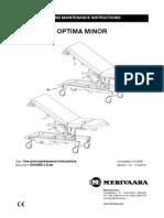 Merivaara Patient Bed Optima - Service Manual