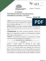 2011 - Decreto Reglamentario de La Ley 18405 de 2008 - Retiros Policiales
