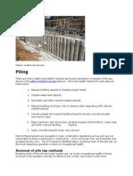 Piles Construction